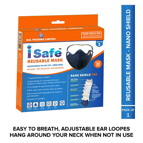 Isafe Reusable Face mask Single pack