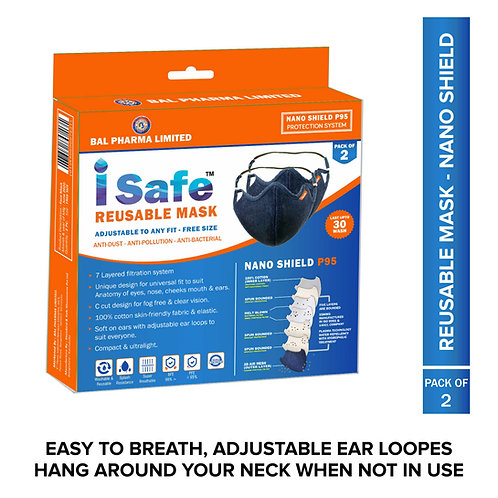Isafe Reusable Face mask Double pack