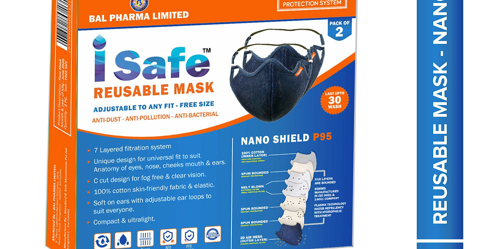 isafe face mask reusable and washable