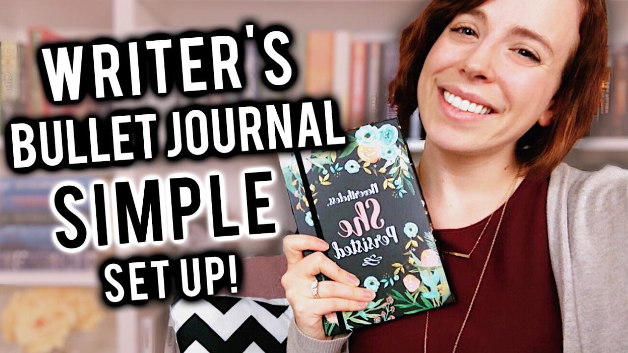 Writers Bullet Journal Set Up Simple Min