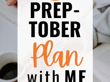 PREPTOBER Writer Plan With Me   October 2020 Goals