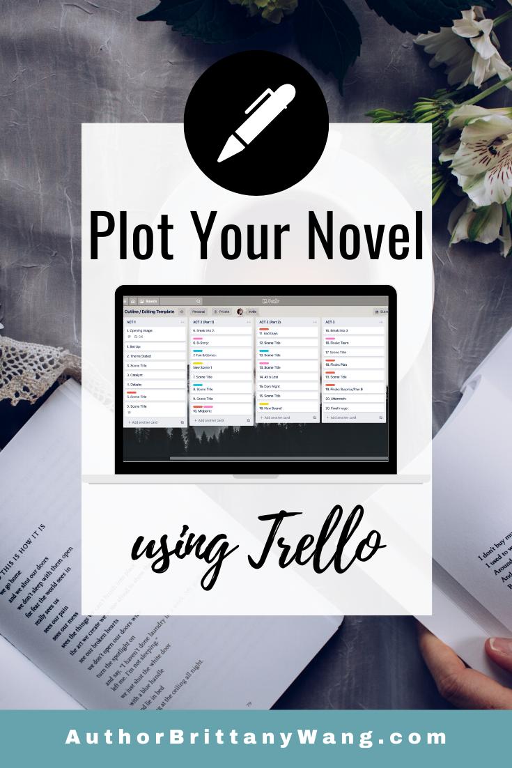 How to OUTLINE A NOVEL using Trello!  Plotting Method