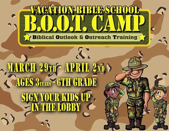 VBS 2021 Boot Camp Sign Up (8.5x11 poste