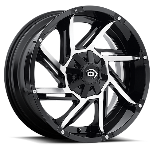 Rin 18x9 Vision 422 Prowler GLOSS BLACK MACHINED FACE