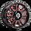 Thumbnail: Rin 17x8.50 Vision 399 Fury GLOSS BLACK BALL CUT MACHINED WITH RED TINT