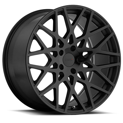 Rin 18x9.5 TSW Vale DOUBLE BLACK WITH MATTE BLACK WITH GLOSS BLACK FACE