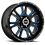 Thumbnail: Rin 18x8.50 Vision 399 Fury GLOSS BLACK BALL CUT MACHINED WITH BLUE TINT