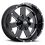 Thumbnail: Rin 17x9 Vision 411 Arc GLOSS BLACK MILLED SPOKES
