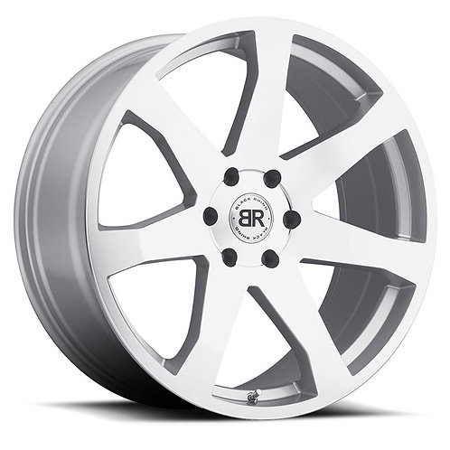 Rin 18x8.5 Black Rhino Mozambique SILVER WITH MIRROR CUT FACE ROTARY FORGED® /RF