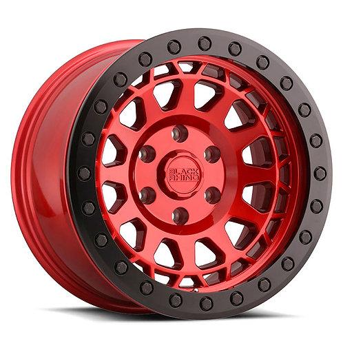 Rin 17x8.5 Black Rhino Primm Bedlock CANDY RED W/ BLACK RING