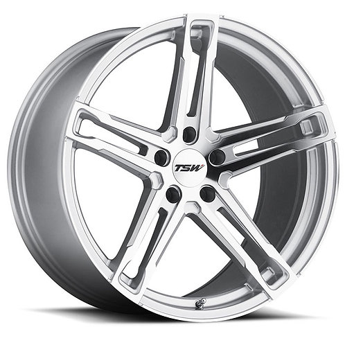 Rin 17x8 TSW Mechanica SILVER WITH MIRROR CUT FACE