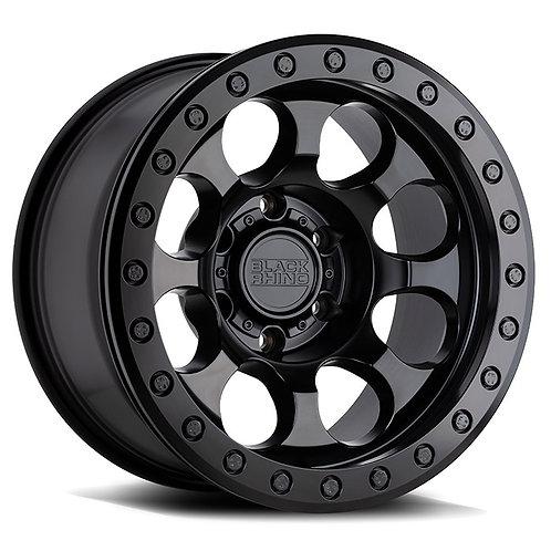 Rin 17x8.5 Black Rhino Riot Beadlock MATTE BLACK W/ BLACK RING & BLACK BOLTS
