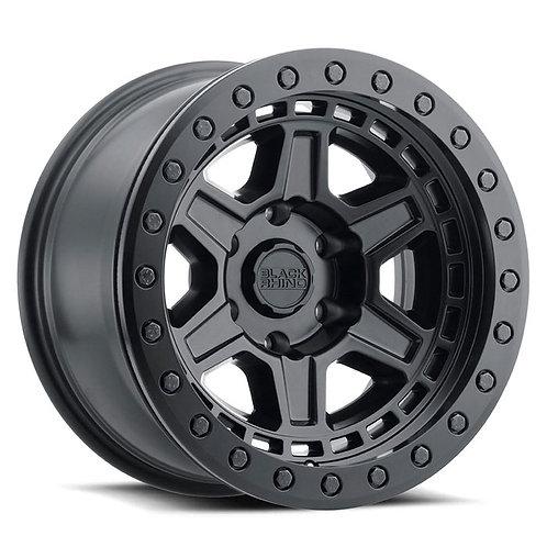 Rin 17x8.5 Black Rhino Reno Beadlock MATTE BLACK WITH BLACK BOLTS