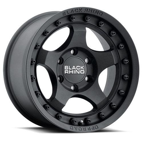 Rin 18x9 Black Rhino Bantam TEXTURED BLACK