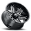 Thumbnail: Rin 24x12 Vision 363 Razor GLOSS BLACK MILLED SPOKES