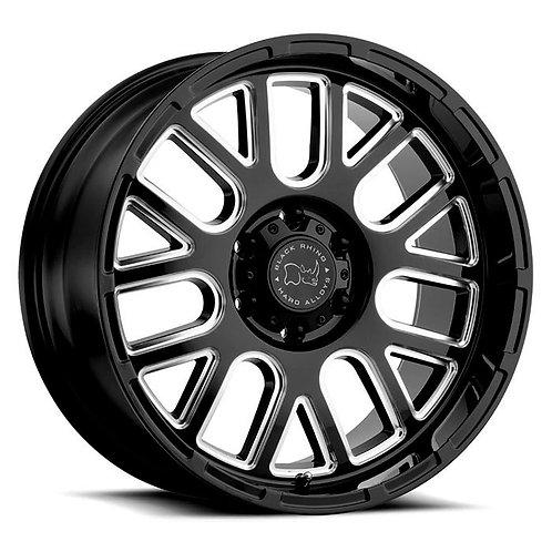 Rin 17x9.5 Black Rhino Pismo GLOSS BLACK W/MILLED SPOKES