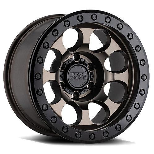 Rin 17x8.5 Black Rhino Riot Beadlock MATTE BRONZE W/ BLACK RING & BLACK BOLTS