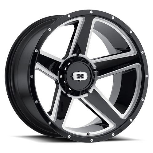 Rin 22x11.50 Vision 390 Empire GLOSS BLACK MILLED