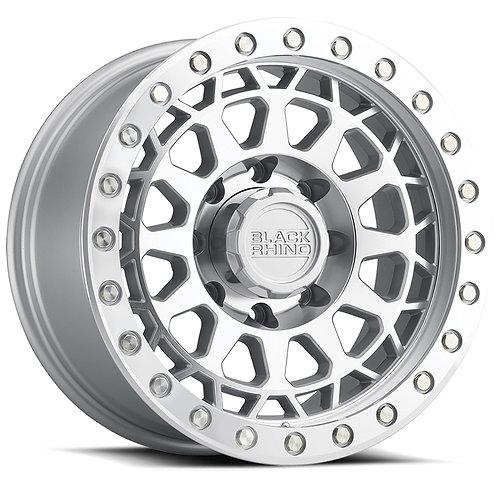 Rin 17x9 Black Rhino Primm SILVER W/ MIRROR FACE & MACHINED RING