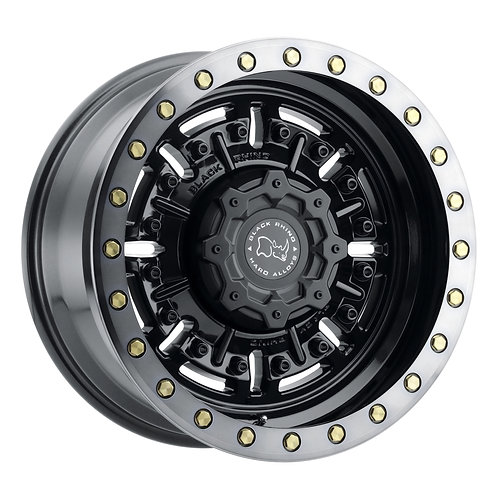 Rin 17x9.5 Black Rhino Abrams Gloss Gunblack w/ machined dark tint lip