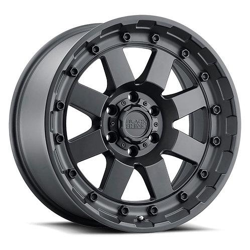 Rin 17x8.5 Black Rhino Cleghorn MATTE BLACK
