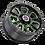 Thumbnail: Rin 18x8.50 Vision 399 Fury GLOSS BLACK BALL CUT MACHINED WITH GREEN TI