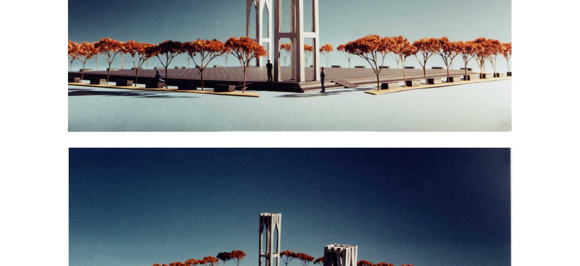 First model for WTC Memorial design