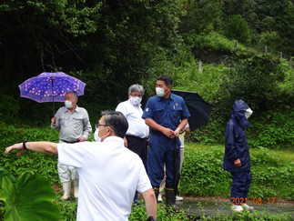 ◎鹿北町柿原地区豪雨災害視察