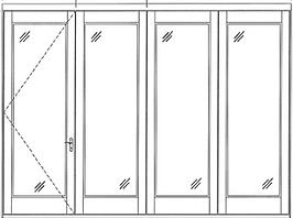 hurricane impact Bi-Folding Doors