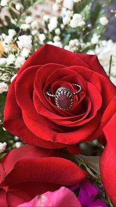 Ava Regal Ring - Rhodolite