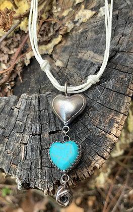 Kiana Dangle Necklace - Blue Howlite