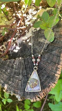 Labradorite Center Prong Necklace