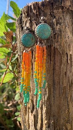 Vicki Fringe Earrings (Turquoise)