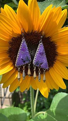 Lucy Charoite Dangle Earrings