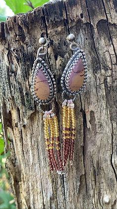 Paisley Fringe Earrings (Sonoran Dendritic Rhyolite)