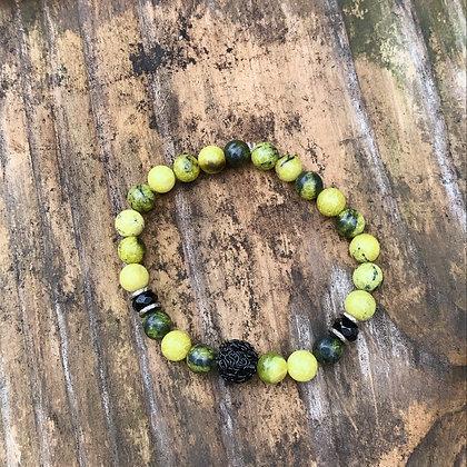 Yellow Serpentine Bracelet