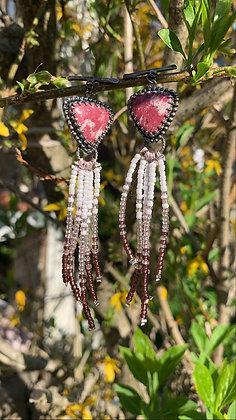 Audrey Fringe Earrings (Thulite)