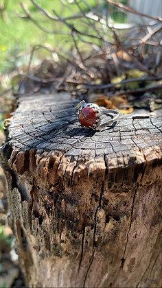 Poppy Jasper Bypass Ring