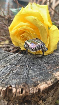 Purple Pearl Statement Ring