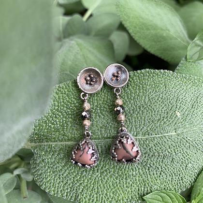 Chohua Jasper Pond Lily Earrings