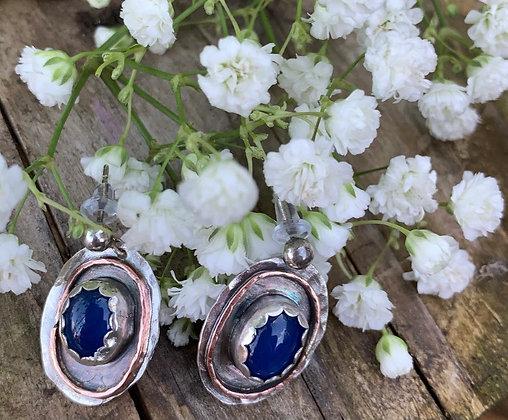 Diana Blue Onyx Earrings