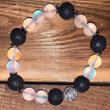 Opalite & Lava Stone Bracelet