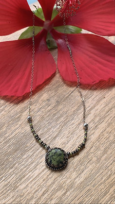 Kiko Green Vein Jasper Necklace