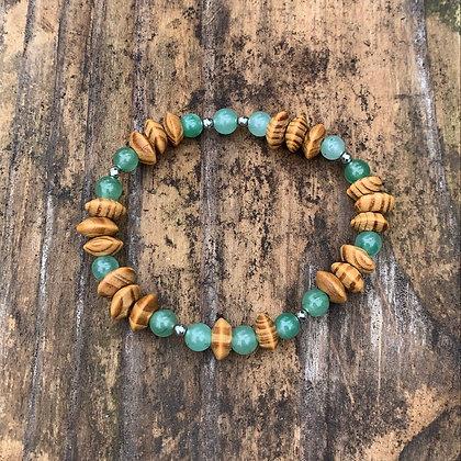 Jade & Bamboo Bracelet