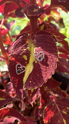 Faithful Heart Earrings (Onyx)