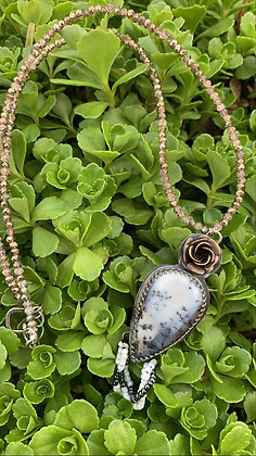 Dendritic Opal & Crystal Necklace