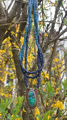 Azurite Twisted Strands Necklace