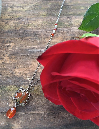 Red Agate Regal Necklace