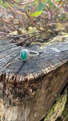 Ava Regal Ring - Green Onyx