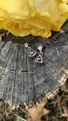 Ursula Floral Earrings - Iolite